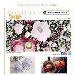 [LeCreuset] Le Creuset Monthly Specials - January 2018
