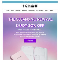 [HQhair] The Cleansing Revival | Save 20% Inside + Free Gift