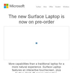 [Microsoft Store] The new Surface Laptop is now available for pre-order. See more >