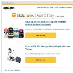 [Amazon] Save up to 30% on Select Sports Nutrition...