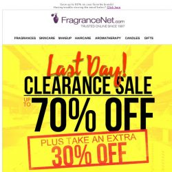 [FragranceNet] ▷ Wow! You made the list for our Warehouse Clearance Event!