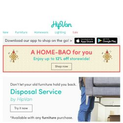 [HipVan] Our new Disposal Service at your disposal😉