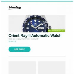 [Massdrop] Orient Ray II Automatic Watch, CRKT Cuatro Liner Lock Knife - Massdrop Debut, Black Diamond Cosmo & Spot Headlamps and more...