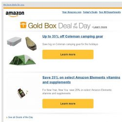 [Amazon] Up to 35% off Coleman camping gear