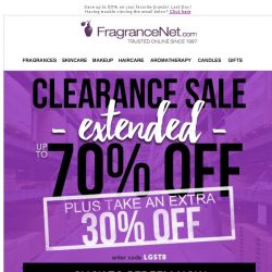 [FragranceNet] Breaking NOW! We're specially alerting you to THIS: Clearance Sale
