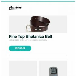 [Massdrop] Pine Top Bhutanica Belt, Victorinox Rangerwood 55, Brunton Get-Back Mini GPS and more...