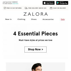 [Zalora] Start your week right with up to 80% off these essential pieces!