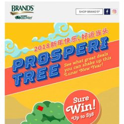 [Brand's] 💥Sure-win!💥 Get vouchers worth up to $38 when you shake our BRAND'S ProsperiTree!