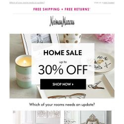 [Neiman Marcus] Home Sale! Up to 30% off
