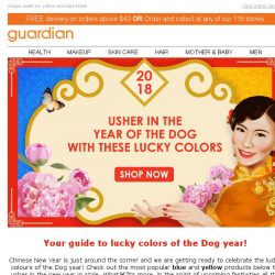 [Guardian] Usher in the year of the Dog with lucky colors and discounts 💛💙
