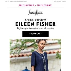[Neiman Marcus] First look: Eileen Fisher for spring