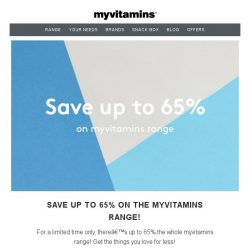 [MyVitamins] Save up to 65%   Plus an extra 20% off!
