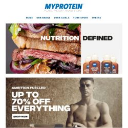 [MyProtein] 🔥 New Products to Fuel Your 2018 Goals!