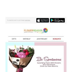[Floweradvisor] RELOVELUTION: Be The Surprise and Draw a Smile On Her Face!