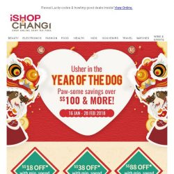 [iShopChangi] 🐾 Ready for a PAW-SPEROUS NEW YEAR?
