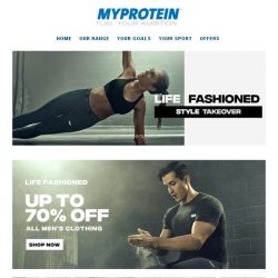 [MyProtein] 【TODAY ONLY】70% Off Clothing 🔥