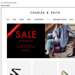 [Charles & Keith] CHARLES & KEITH   Final Reductions