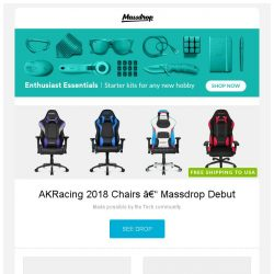 [Massdrop] AKRacing 2018 Chairs – Massdrop Debut, Orion Harness Leather Belt, Orient Esteem Automatic Watch and more...