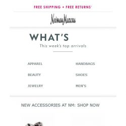 [Neiman Marcus] 164 new arrivals have just landed!