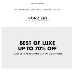 [Forzieri] Best of Luxe up to 70% Off