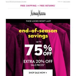 [Neiman Marcus] What's better than a sale? Sale on sale!