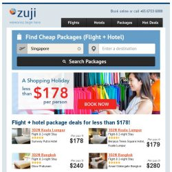[Zuji] BQ.sg: 💰 ALL IN - Packages for less than $178