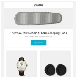 [Massdrop] Therm-a-Rest NeoAir XTherm Sleeping Pads, Glycine Combat Classic Open Heart Automatic Watch, Dekoni Premium Ear Pads for Sennheiser HD 800 and more...