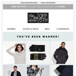 [Saks OFF 5th] Bundle up to 85% OFF winter essentials!