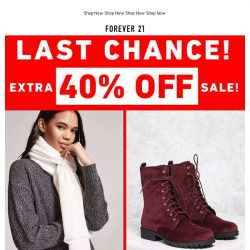 [FOREVER 21] Extra 40% Off On-Sale Items | DON'T SLEEP 😴🚫