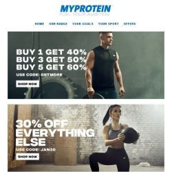 [MyProtein] Last chance to shop 60% off - Ends Tonight ⏳