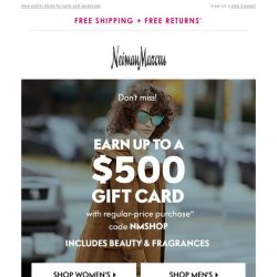 [Neiman Marcus] Want a $100 gift card?