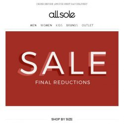 [Allsole] Final reductions start NOW!