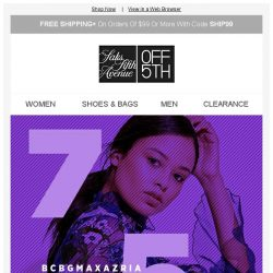 [Saks OFF 5th] YES: up to 75% OFF 75+ designers!