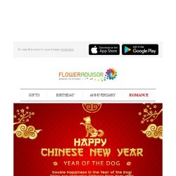[Floweradvisor] Early Bird Chinese New Year Gift. Grab 15% Off Now!
