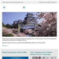 [Cathay Pacific Airways] Enjoy the 2018 cherry blossoms from SGD468 all-in