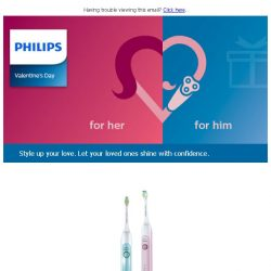 [PHILIPS] This Valentine's Day, style up your love