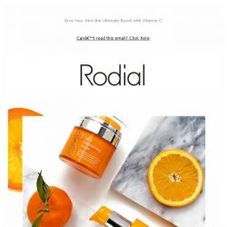 [RODIAL] It's Here: Our New Vit C Range Has Landed