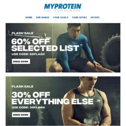 [MyProtein] 💪 Flash Sale Extended for the Weekend!
