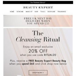 [Beauty Expert] The Cleansing Ritual | Save 20% Inside + Free Gift