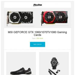 [Massdrop] MSI GEFORCE GTX 1060/1070TI/1080 Gaming Cards, Altra Instinct & Intuition 4.0 Running Shoes, Montegrappa Nero Uno Automatic Watch Box Set and more...