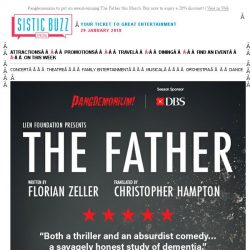 [SISTIC] Pangdemonium to put on award-winning The Father this March. Buy now to enjoy a 20% discount!