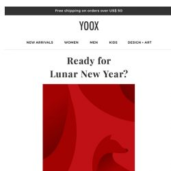 [Yoox] 🎊 Are you ready for Lunar New Year? Enjoy an Extra 20% off Everything