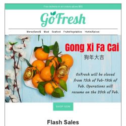 [GoFresh] Shop for CNY Specials on GoFresh. More products to be uploaded by this week!
