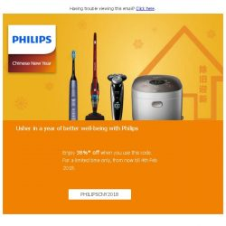 [PHILIPS] Make 2018 a good year for you and your family