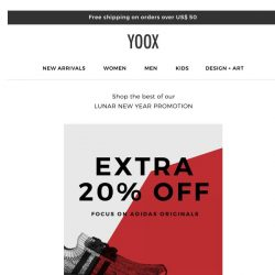 [Yoox] Extra 20% off: focus on adidas Originals sneakers