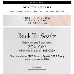 [Beauty Expert] Back To Basics | Save 20% Inside + Free Gift