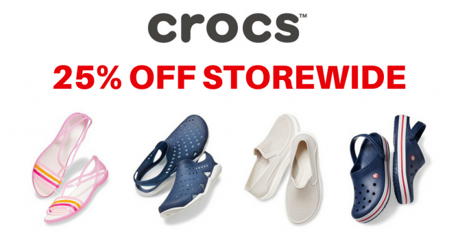 c06f870b2cb Start the new year with new shoes! Get your favourite Crocs shoes at 25%  off! Just use the below coupon code at checkout