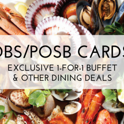 DBS/POSB Cards – Exclusive 1-for-1 Buffet & Other Dining Deals (Jan 2018)