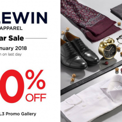 T.M.Lewin: Men's Apparel Bazaar Sale with Up to 60% OFF at Isetan Scotts