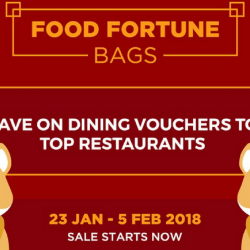 Chope: Purchase Food Fortune Bags at Just $28 & $68 and Save up to 60% on Your Restaurant Meals!